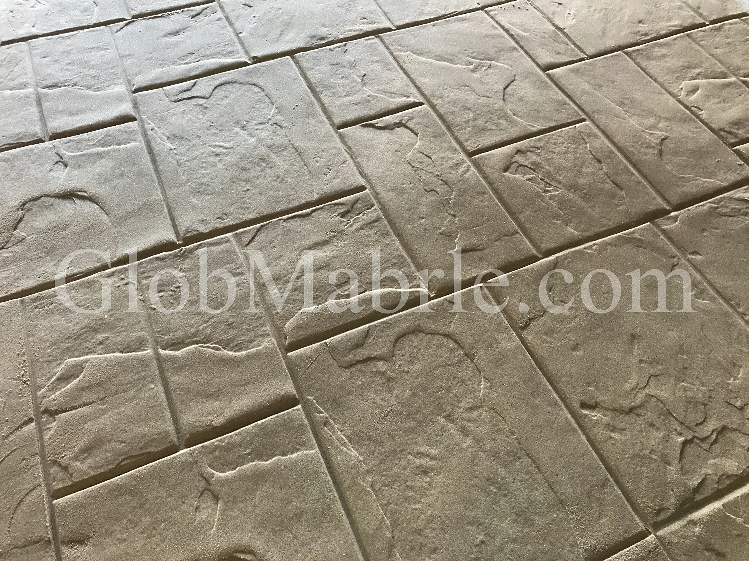 GlobMarble Stamped concrete. Slate Stone Stamp SM 3002/F. Ashlar Slate Concrete Stamp Floopy Mats by GlobMarble (Image #1)
