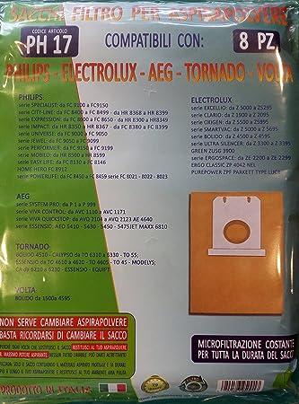 ph17 bolsas Filtro para aspiradora Philips - ELECTROLUX ...