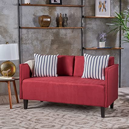 Christopher Knight Home 301058 Sullivan Fabric Loveseat, Deep Red
