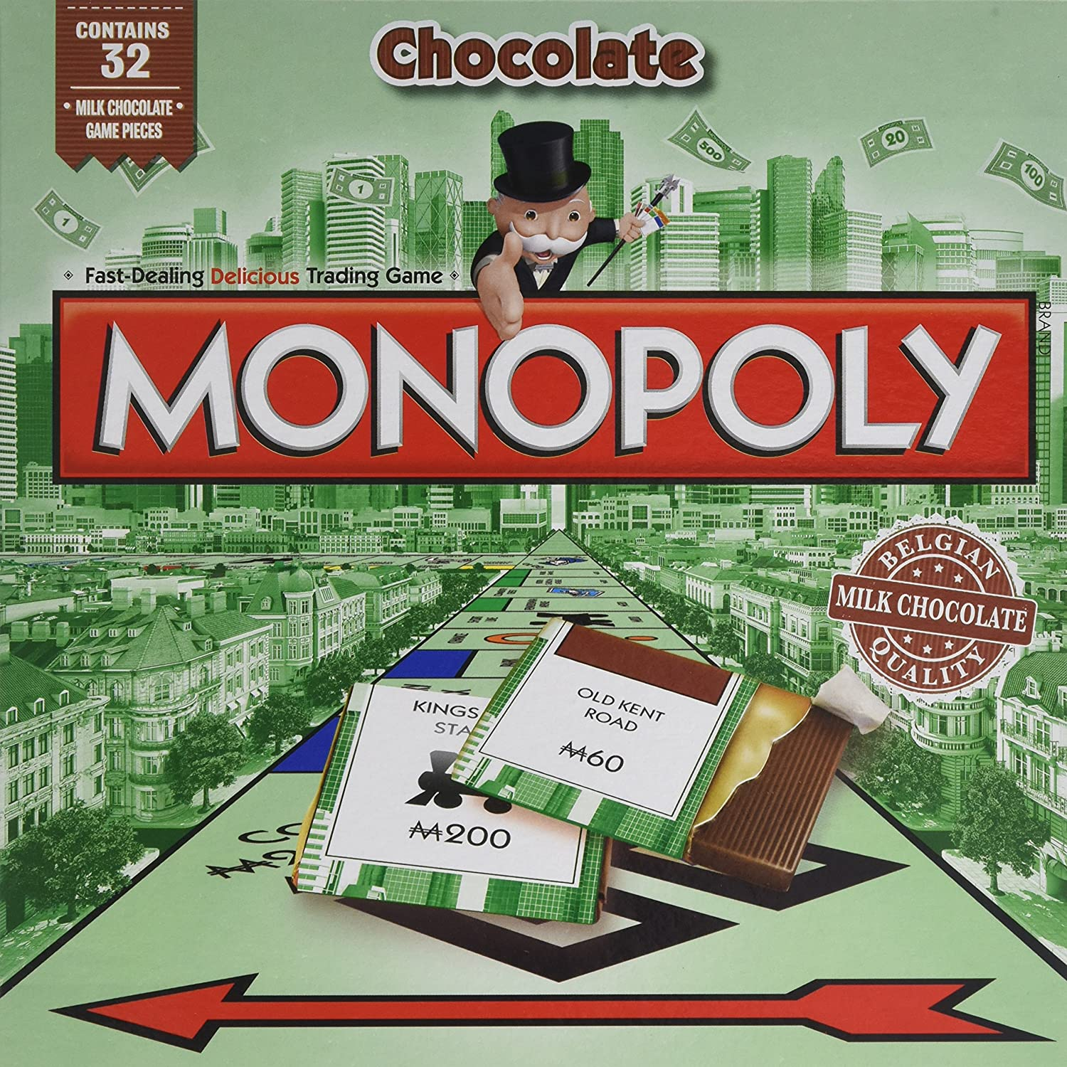 Games for Motion Monopoly with Chocolate Pieces 160 g: Amazon.co ...