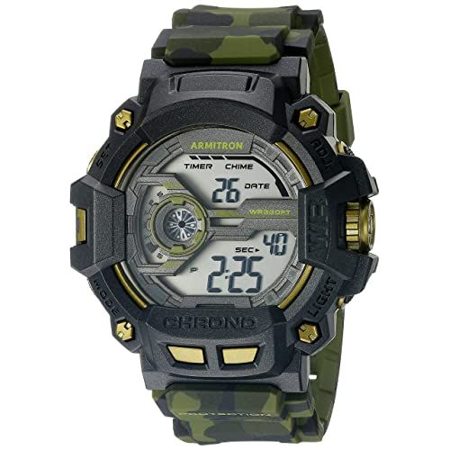 Armitron Sport Mens 40/8353 Digital Chronograph Grey Resin Strap Watch