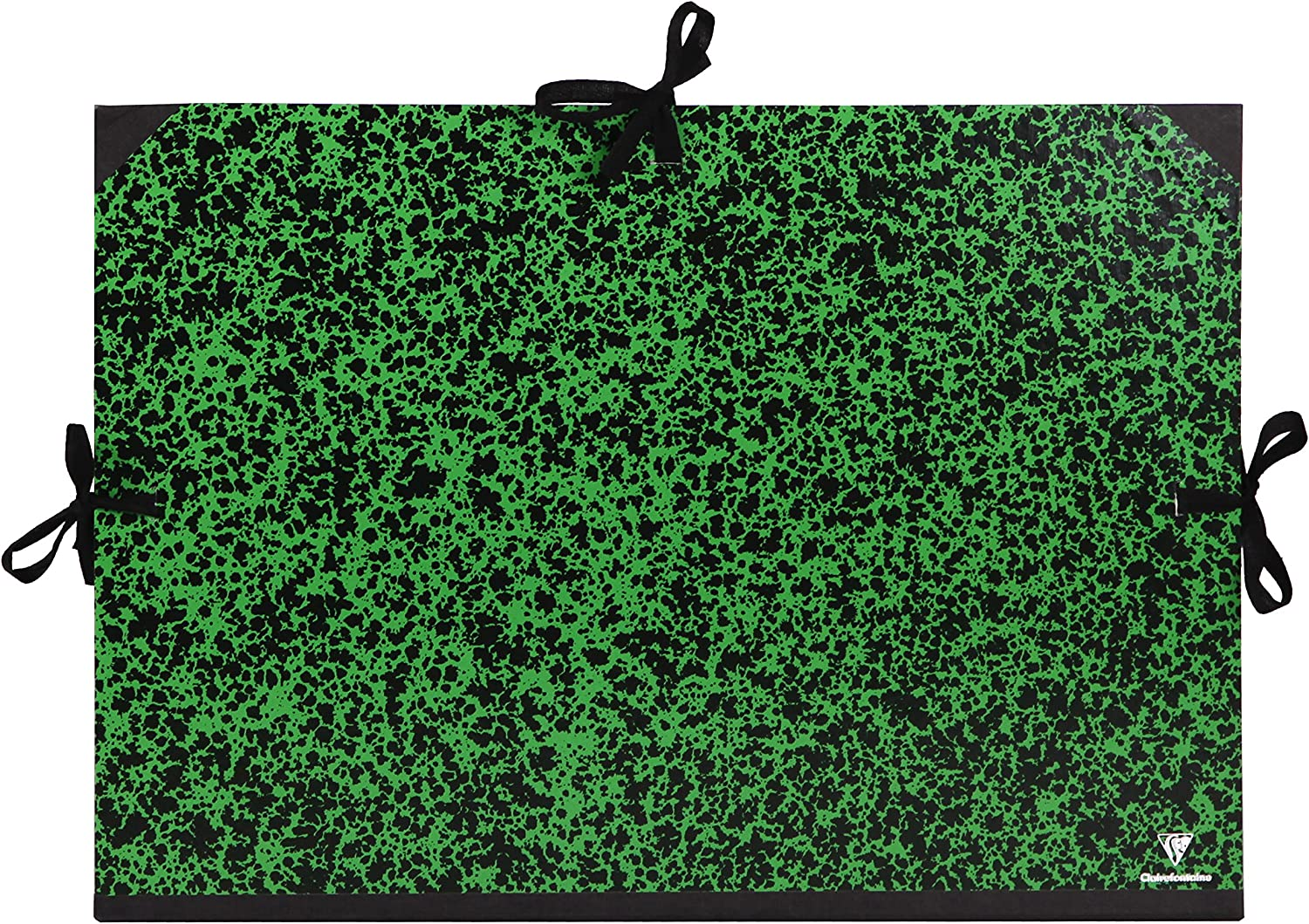 26x33cm-Green Green A4 Clairefontaine Annonay Art Folder with Ties