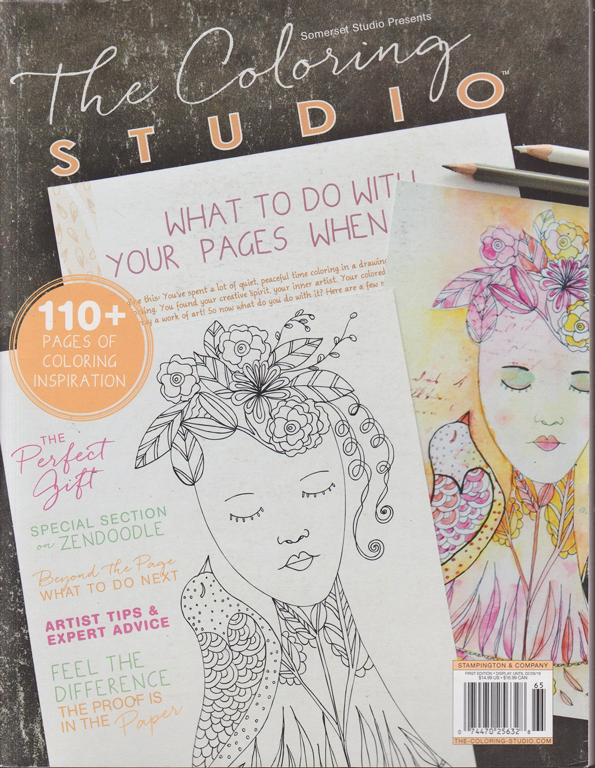 Somerset Studio Presents The Coloring Magazine 1st Edition Amazon Books