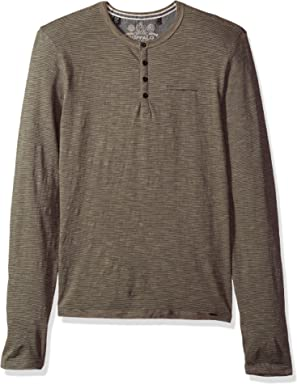 Buffalo David Bitton Mens Katain Long Sleeve Henley Knit Shirt