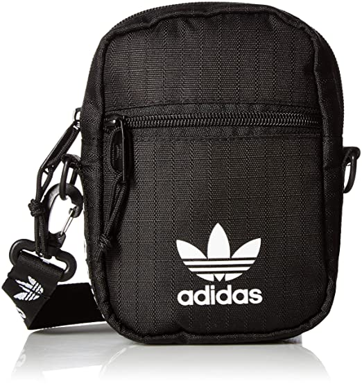 6da057b7a adidas Originals Originals Festival Bag Crossbody, Black/White, One Size