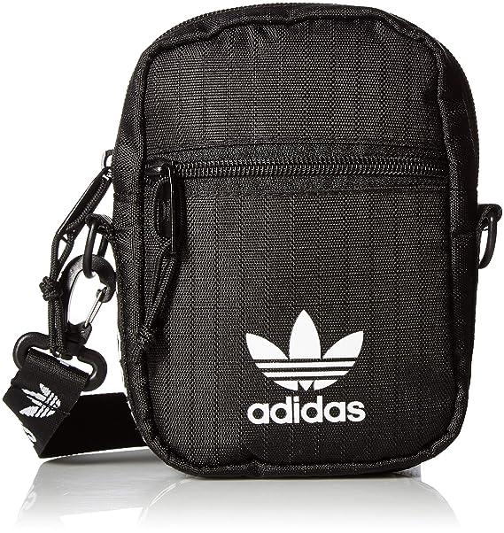 adidas Originals Unisex Festival Crossbody Bag, BlackWhite, ONE SIZE
