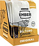 Best Ember Biltong - Beef Jerky - Traditional British and Irish Grass-fed Steak. High Protein Biltong Snack - Perfect New Year Protein Gym Companion - No Sugar Healthy Snack, 10 x 30g Bags (Original)