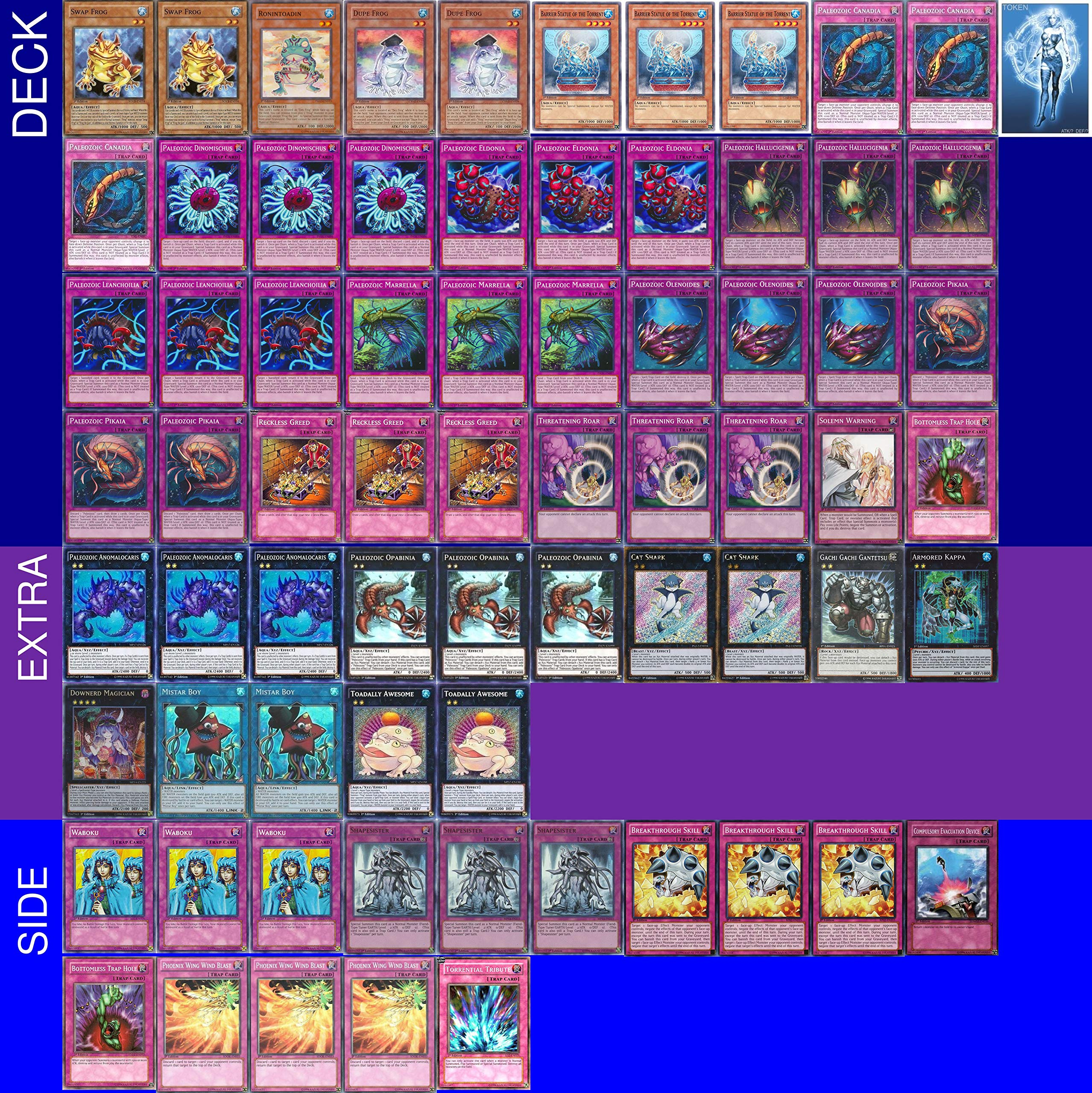 Yu-Gi-Oh! YUGIOH Tournament Ready Paleozoic Deck with Extra & Side Deck and Exclusive Phantasm Gaming Token + Deck Box & 100 Sleeves