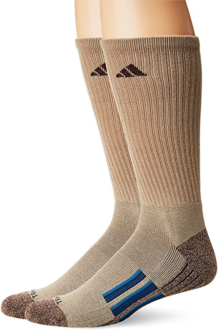 newest 1f313 b3444 adidas Mens Climalite X II Crew Socks (2-Pack), KhakiChocolate