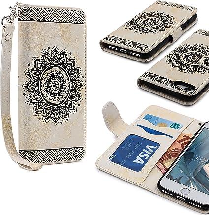 Urcover® Apple iPhone 7 | Funda Carcasa Lotus Pattern | Blanco ...