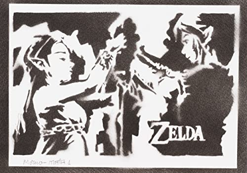 Póster Zelda Y Link Grafiti Hecho A Mano - Handmade Street ...