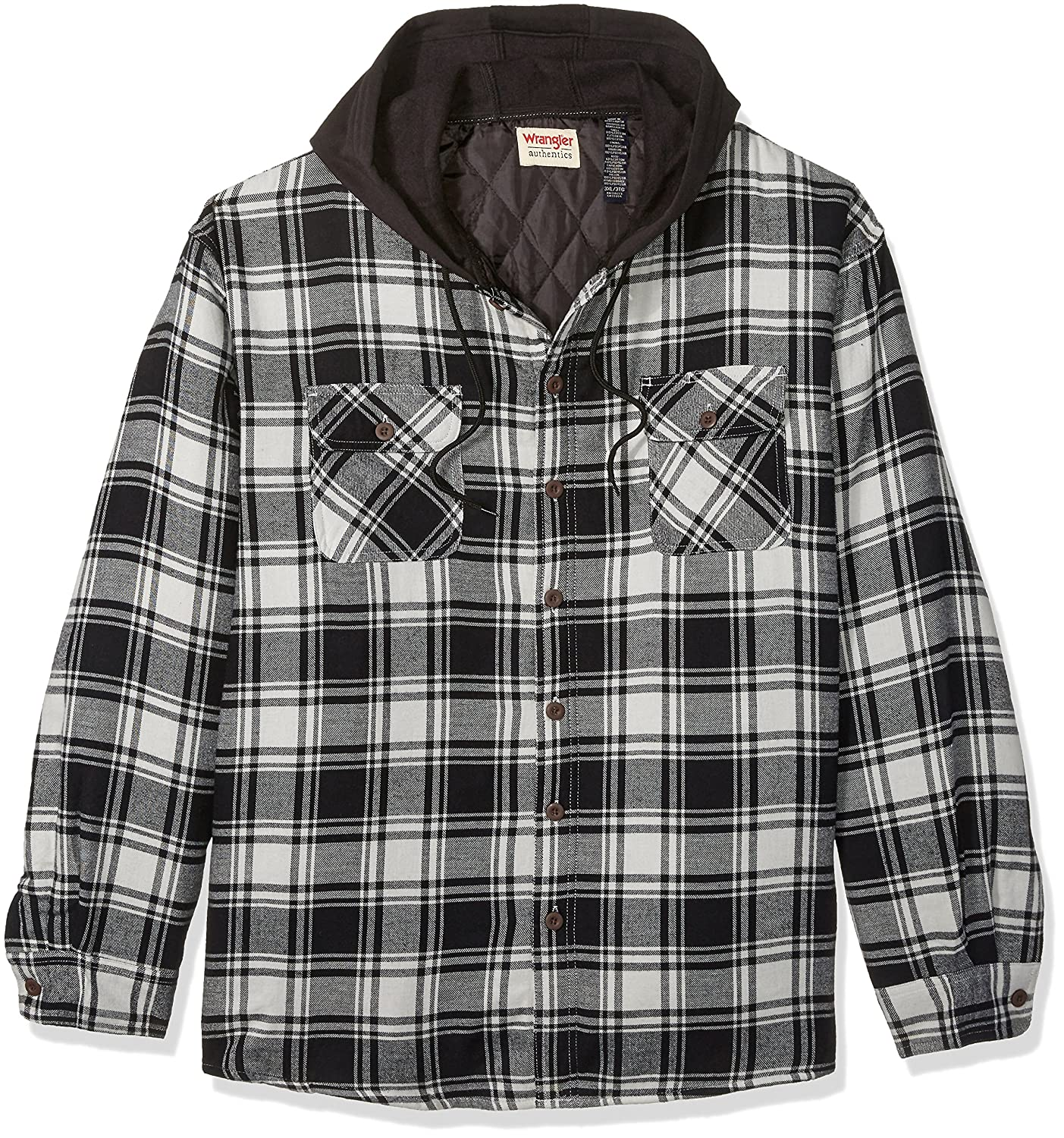 Amazon.com: Wrangler Authentics Men's Big and Tall Long Sleeve ... : quilted flannel jacket with hood - Adamdwight.com