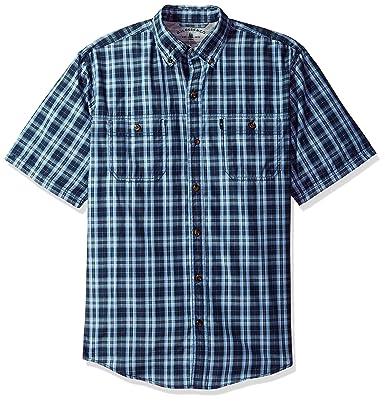 Bass /& Co Men/'s Explorer Fancy Short Sleeve Plaid Shirt G.H