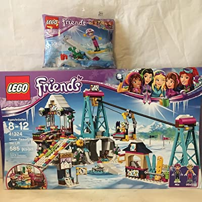 Lego Friends Snow Resort Ski Lift & Lego Friends Snowboard Tricks Bag: Home & Kitchen