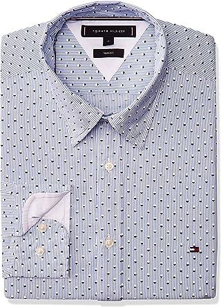 Tommy Hilfiger Camisa Micro Print Blanco Hombre XXL Blanco: Amazon.es: Ropa y accesorios