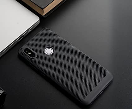 quality design b1507 e6ee4 Mi Perforated Case Cover for Redmi Y2 (Black)