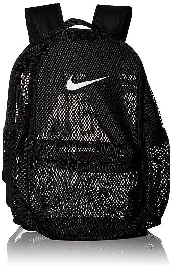 d97a62f71b803b Amazon.com: NIKE Brasilia Mesh Backpack, Black/White, One Size: Clothing