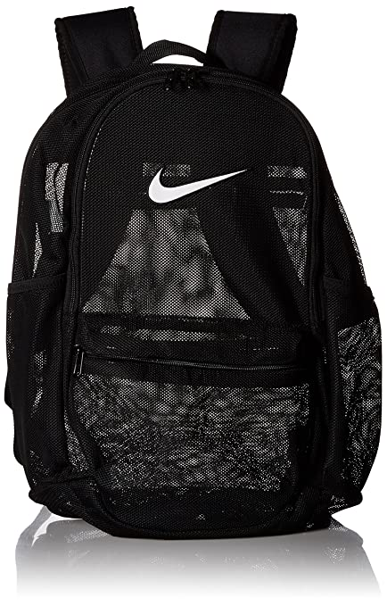 6f5098f00 Amazon.com: NIKE Brasilia Mesh Backpack, Black/White, One Size: Clothing