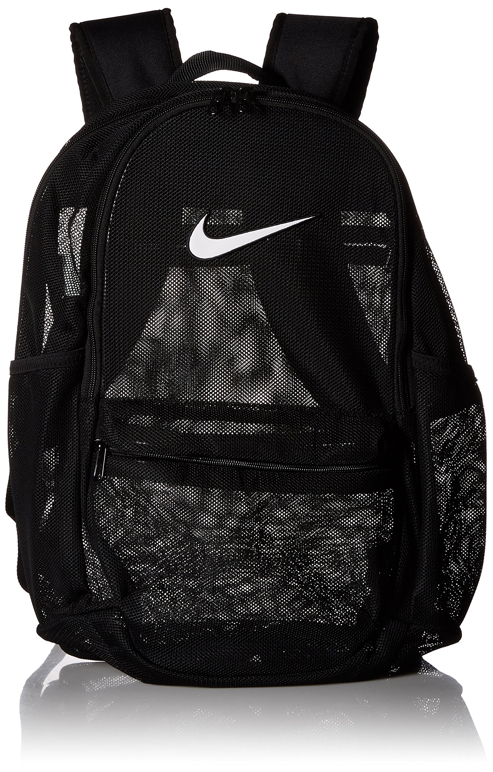 NIKE Brasilia Mesh Training Backpack, Black/Black/White