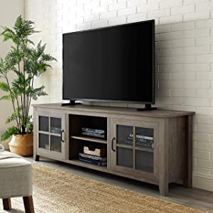 "WE Furniture TV Stand, 70"", Grey Wash"