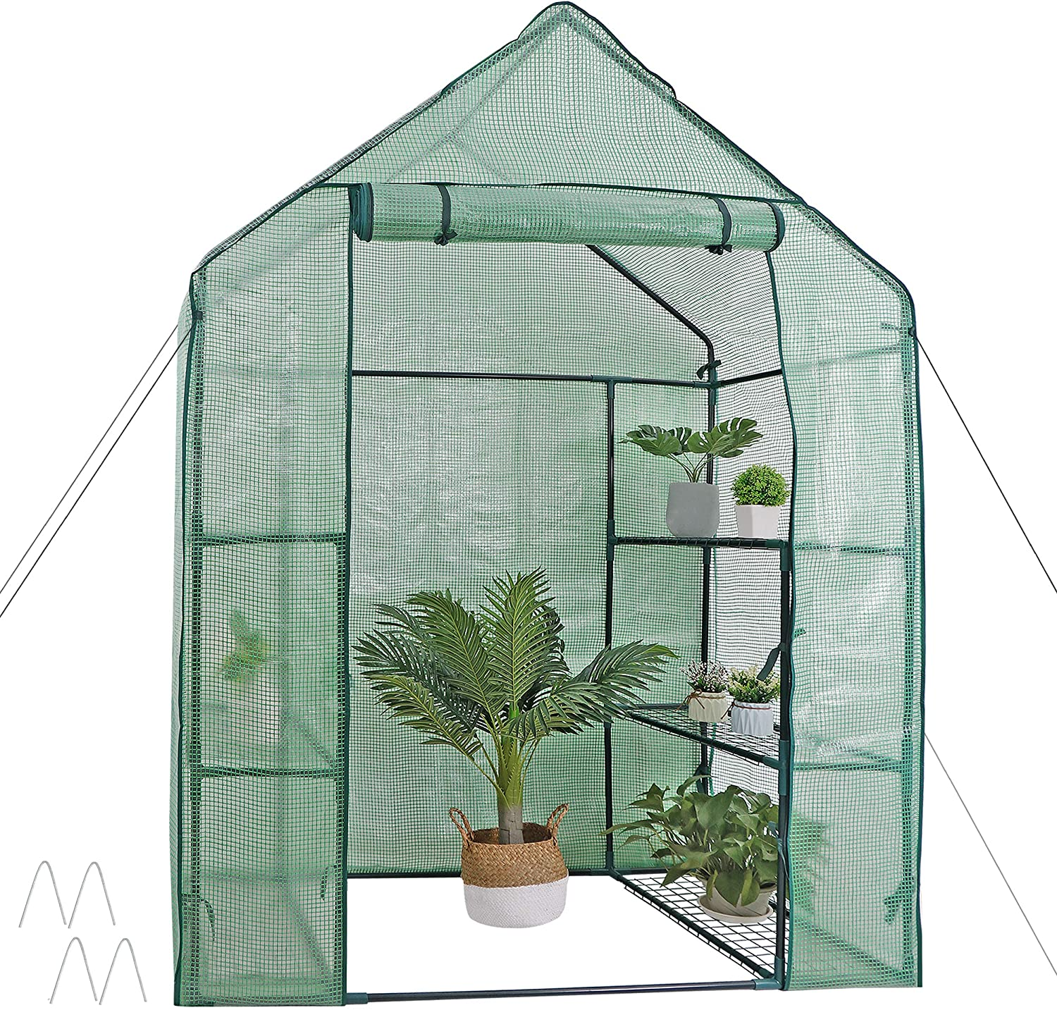 2//3//4//5 Tiers Greenhouse Cover Walk In Grow Bag Garden Plant Shed Tunnel PVC