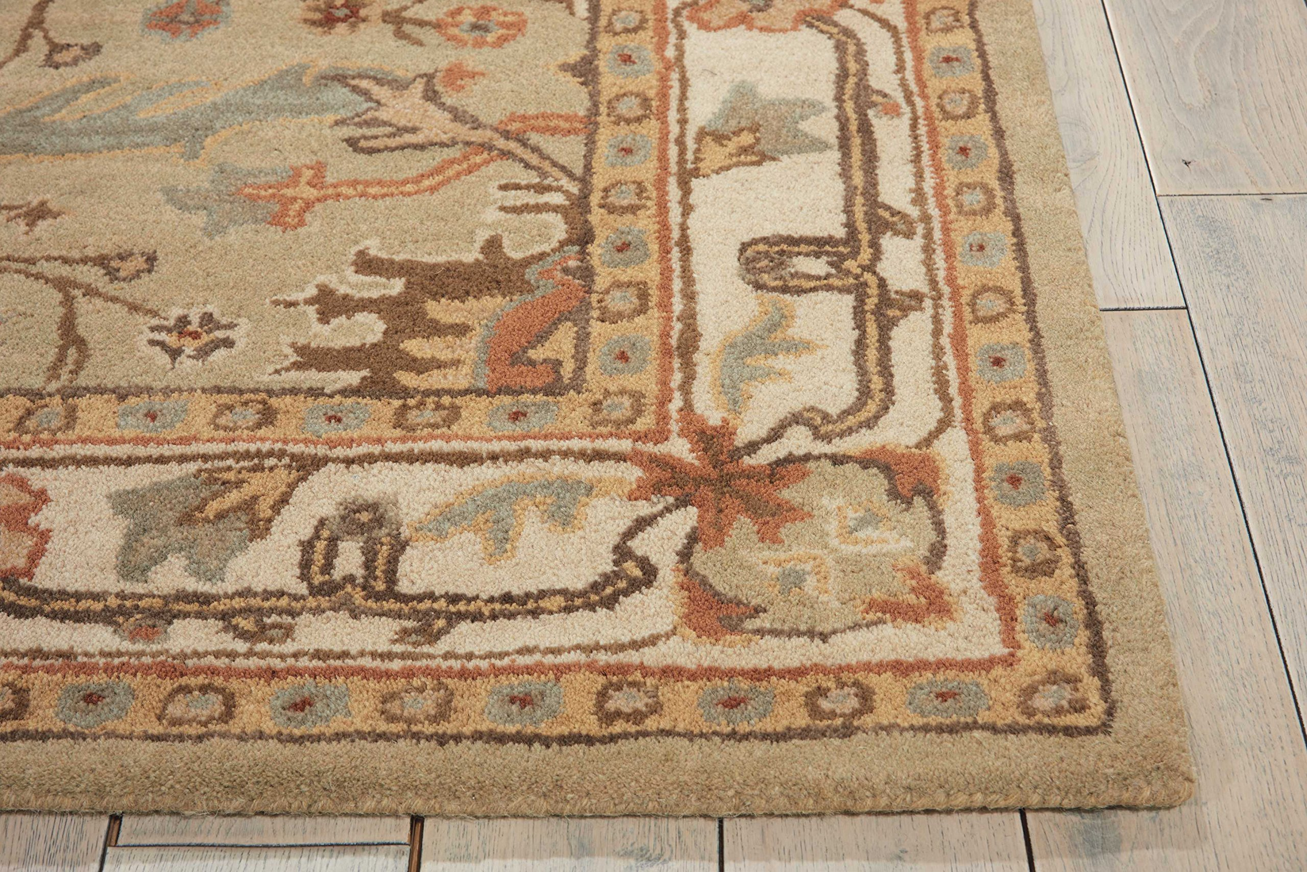 Nourison India House (IH76) Sage Rectangle Area Rug, 2-Feet 6-Inches by 4-Feet (2'6'' x 4') by Nourison (Image #5)