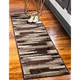 Unique Loom Autumn Collection Gradient Casual Warm Toned Brown Runner Rug (2' 0 x 6' 0)