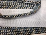 """3/8"""" Cord with Lip, colorn two tone gray"""