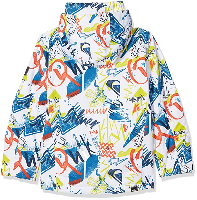 Amazon.com : Quiksilver White-Thunderbolts Mission Printed Kids Snowboarding Jacket (Kids M, White) : Sports & Outdoors