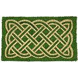 "Entryways Celtic Handmade, Hand-Stenciled, All-Natural Coconut Fiber Coir Doormat 18"" X 30"" x .75"""