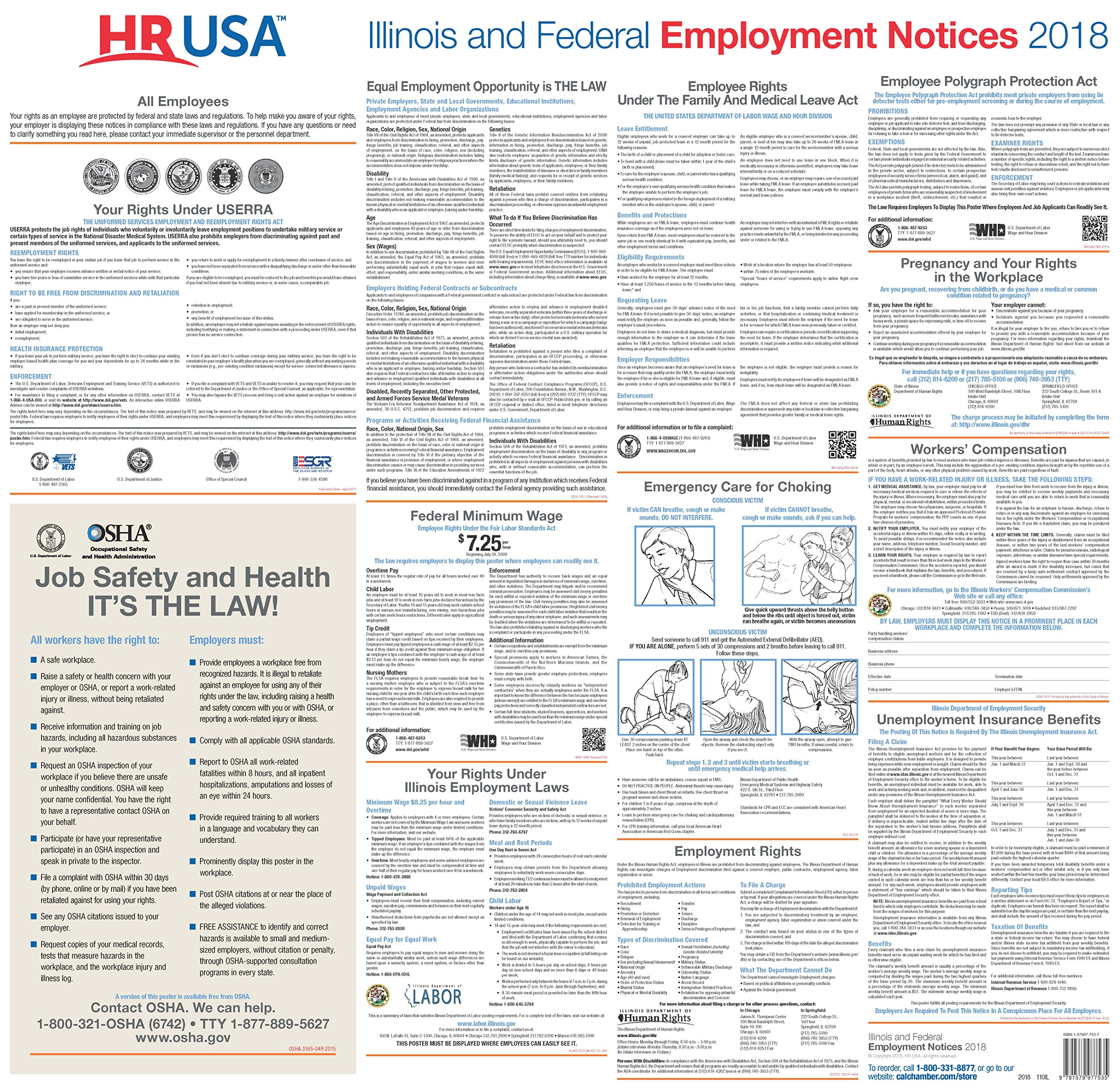 2018 Illinois and Federal Labor Law Poster pdf