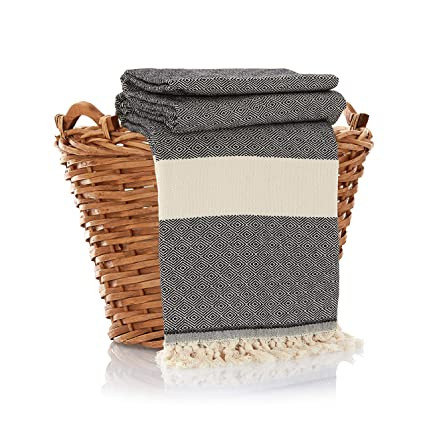 Amazoncom 100 Cotton Throw Blanket Ultra Premium Natural Soft