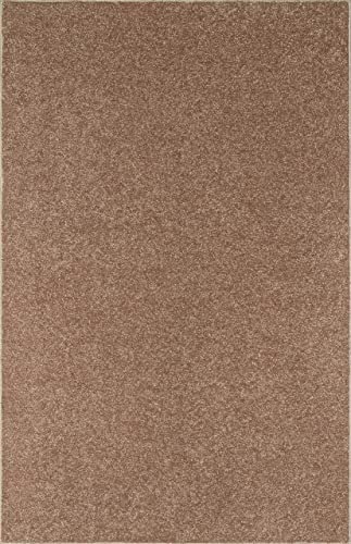 Bright House Solid Color Custom Size Runner Area Rug Brown