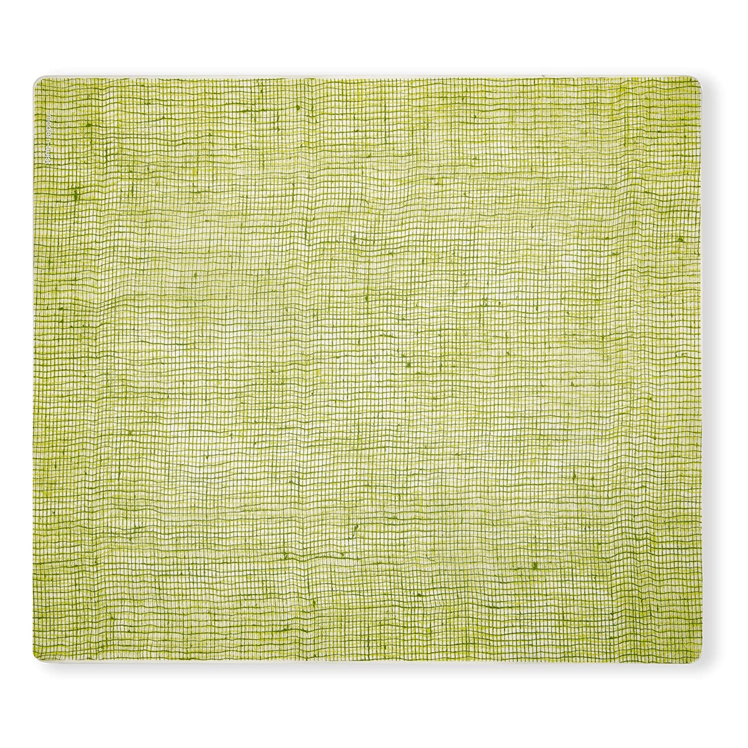 Modern Twist Placemat Linen Apple Green 100% plastic free silicone, waterproof, adjustable, dishwasher safe, Rectangle