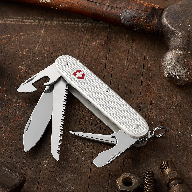 Silver Alox Ribbed Farmer Knife by victorinox swiss army knives