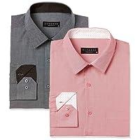 Diverse Men's Checkered Regular Fit Formal Shirt (Pack of 2)