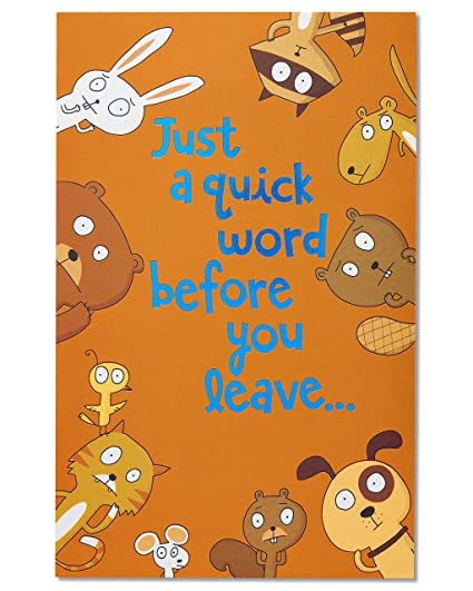 Amazon american greetings funny animals goodbye american greetings funny animals goodbye congratulations card with foil m4hsunfo