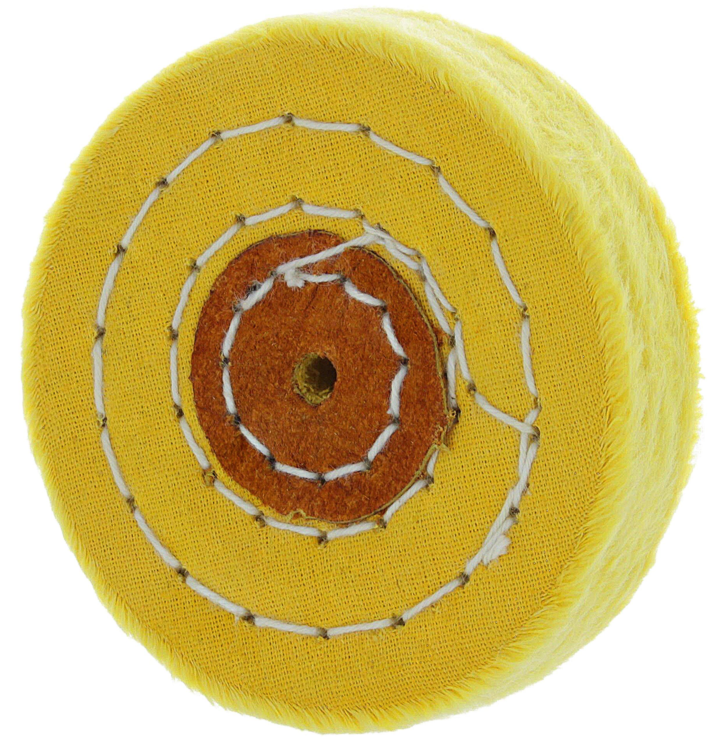 Rueda Pulido 50 Capas De Algodón Amarillo (7.60cm)