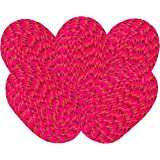 SHF Door Mats Cotton for Home and Office Set of 5 Piece 33x53 cm Pink