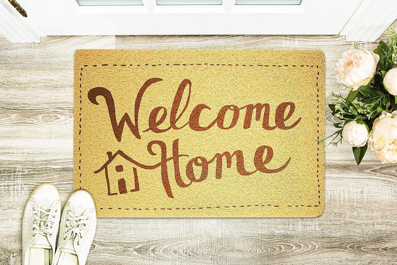 Amazon com art therapy cute welcome doormat custom door