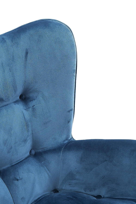 samtiger Loungesessel Kare Design Sessel Vicky Velvet 92 x 59 x 63 cm blau TV-Sessel mit dunklem Holzgestell, H//B//T