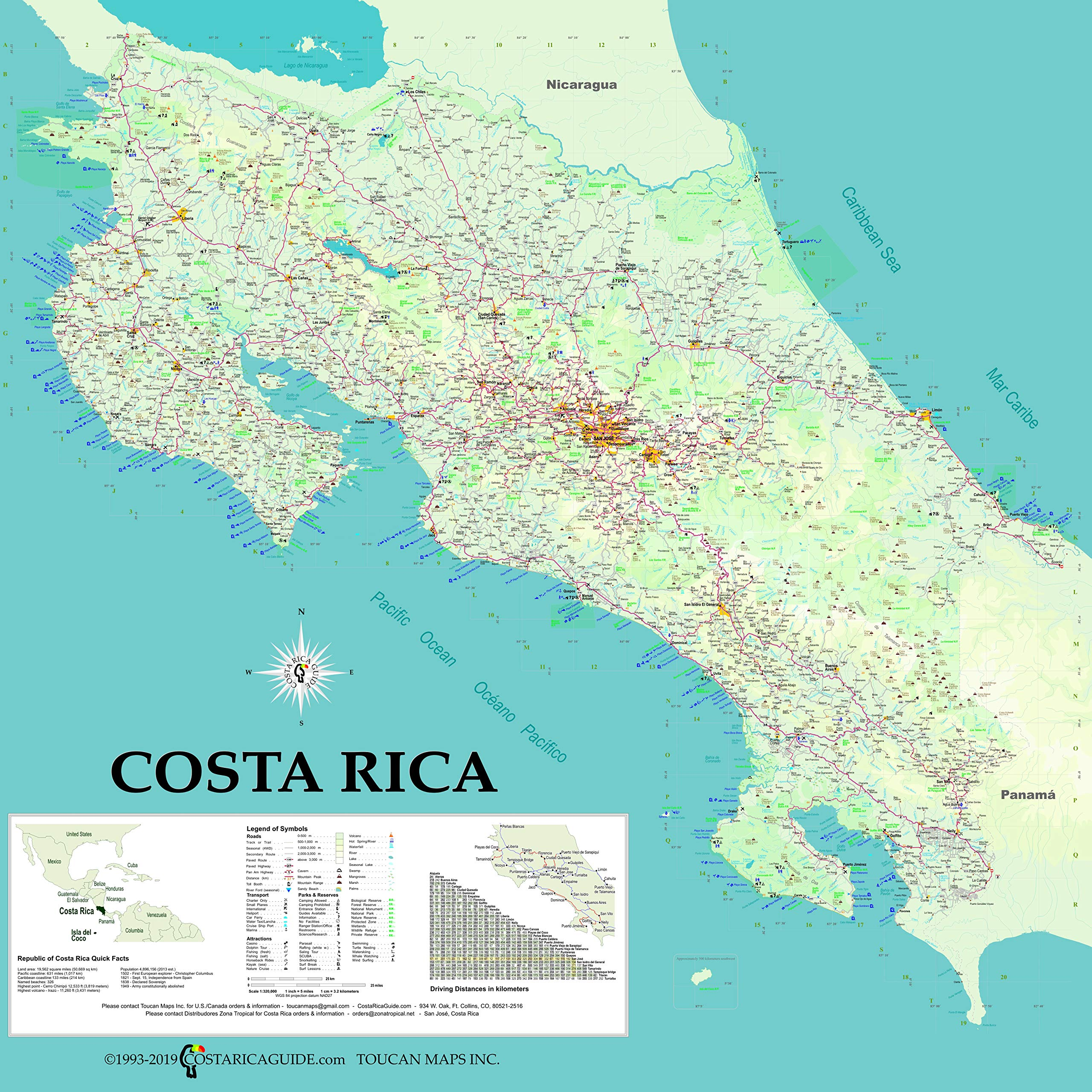 Costa Rica Wall Map Suzanne Krueger Koplin Ray Krueger Koplin Toucan Maps 9780976373377 Amazon Com Books