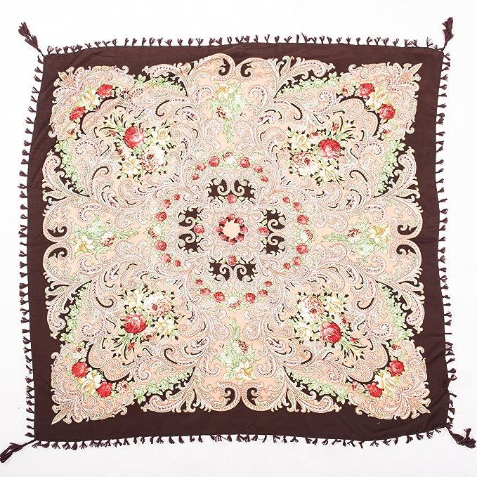 Slaves /écharpe fleurs de lys m/élange de laine foulard cache-ch/âle style russe All 4 Decor Beau grand motif floral