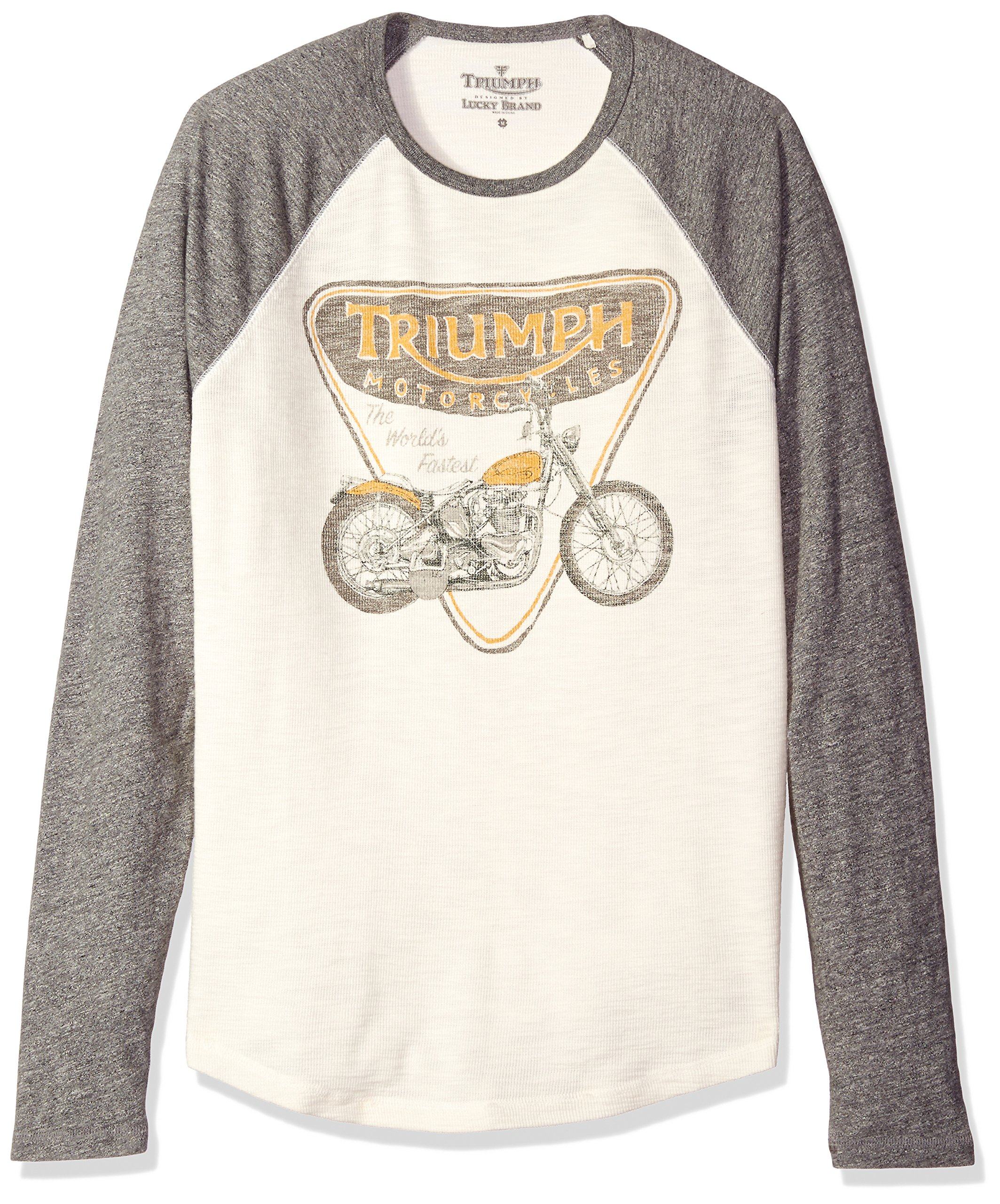 Lucky Brand Men's Triumph Badge and Bike Graphic Tee, Multi, X-Large