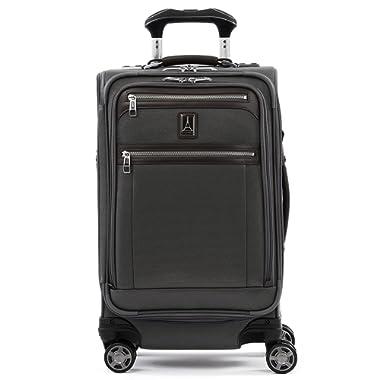 Travelpro Luggage Platinum Elite 21  Carry-on Expandable Spinner w/USB Port, Vintage Grey