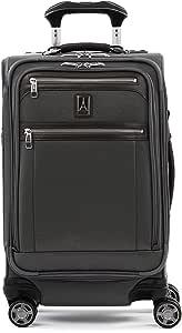Travelpro Platinum Elite-Softside Expandable Spinner Wheel Luggage, Vintage Grey, Carry-On 21-Inch