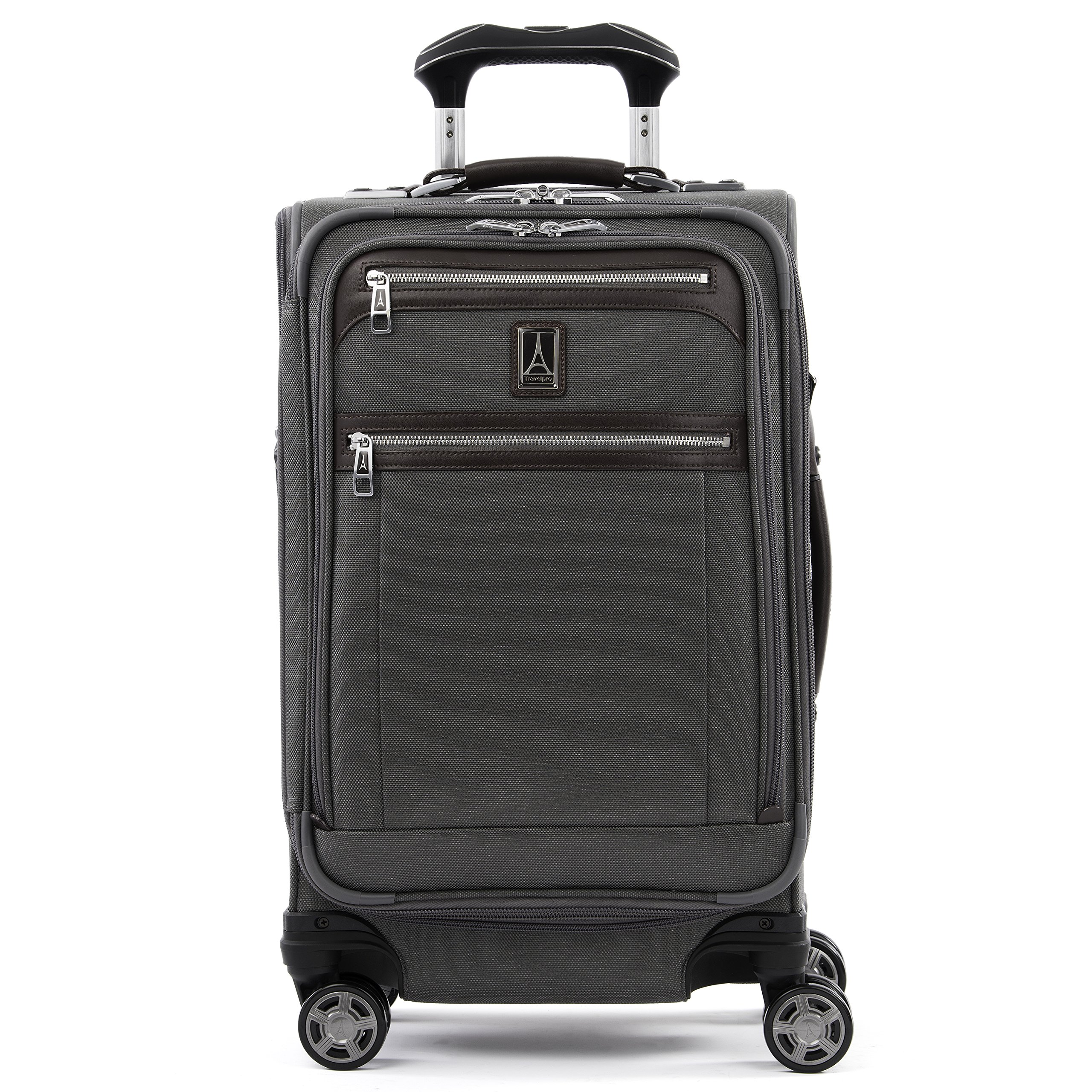 Travelpro Luggage Platinum Elite 21'' Expandable Carry-On Spinner, Vintage Grey