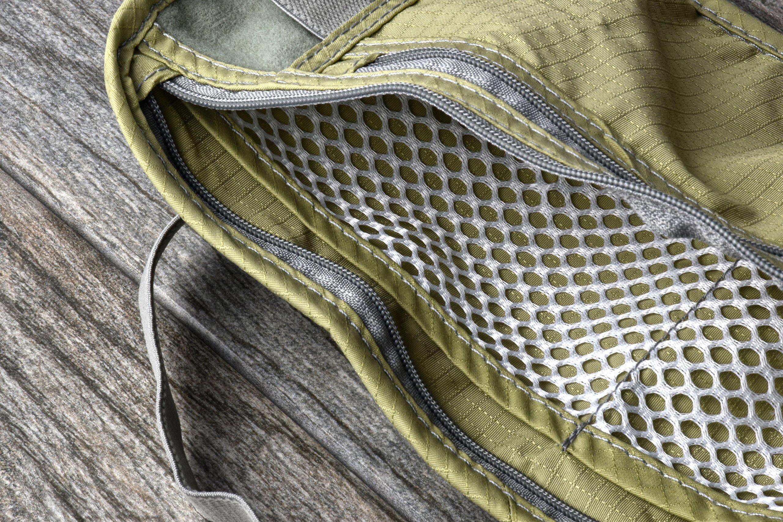 SE TP101-POUCH Concealed Dual Zipper Travel Pouch by SE (Image #4)