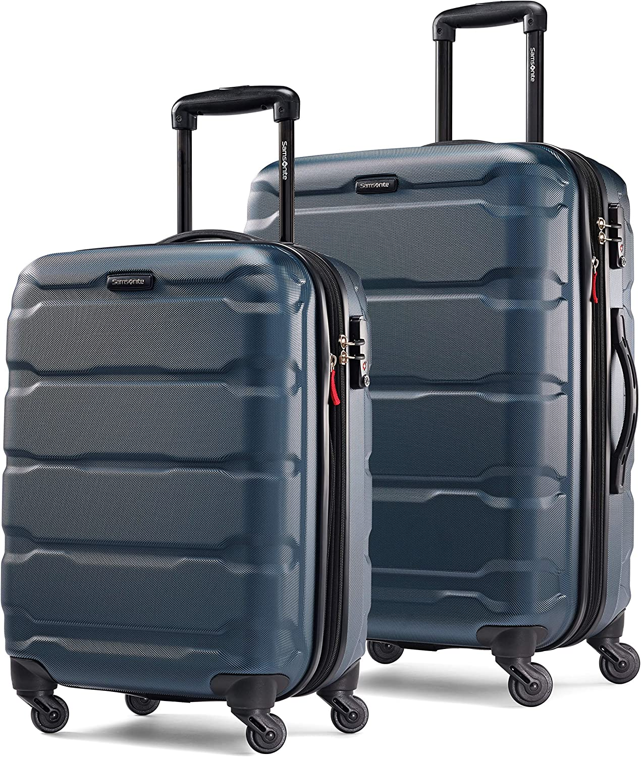 Samsonite Omni PC Hardside Expandable Luggage with Spinner Wheels, Teal, 2-Piece Set (20/24)