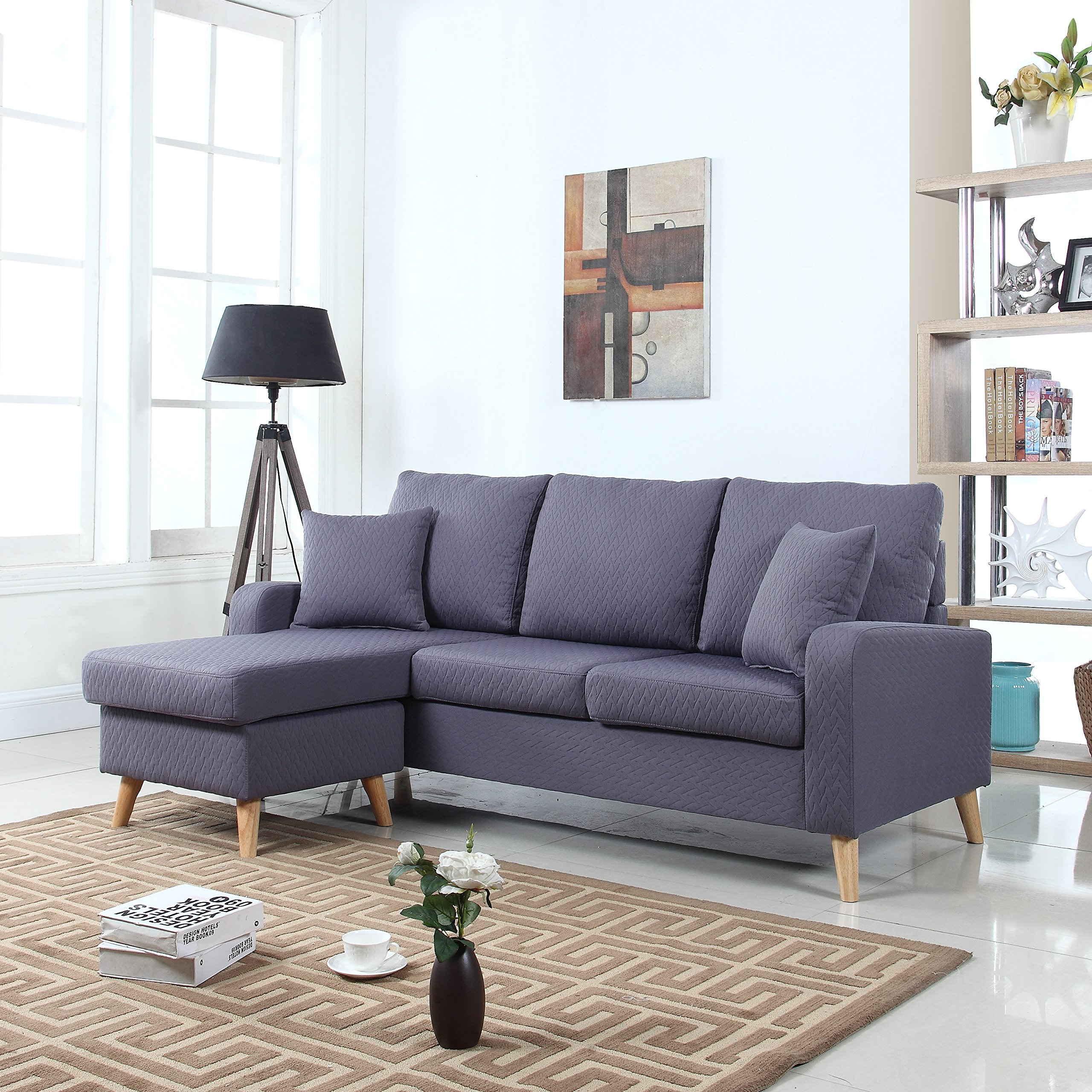 Small Sectional Sofa With Chaise Amazon Com